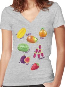 Something Sweet for Every Day Women's Fitted V-Neck T-Shirt