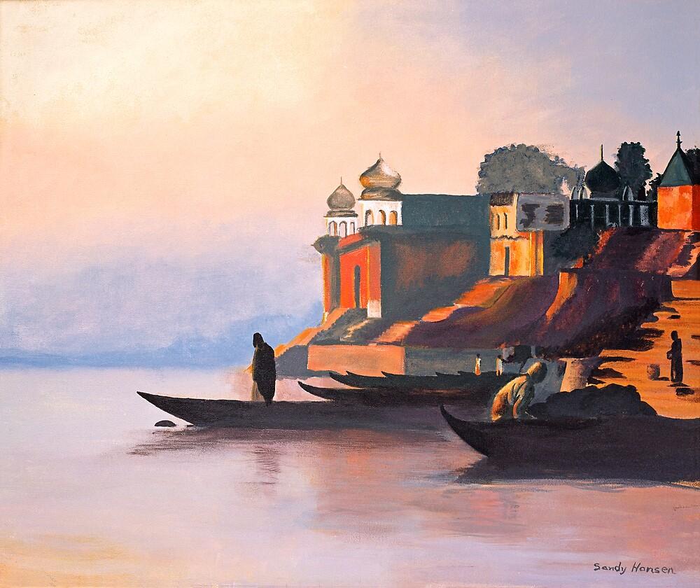 Ganges at Dawn by Sandra Hansen