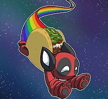 Nyan Deadpool Taco Cat by NeroStreet