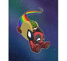 Nyan Deadpool Taco Cat Photographic Print