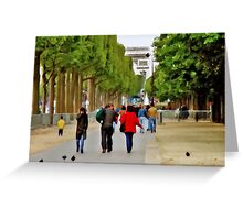 Stroll on the Champs Elysees Greeting Card