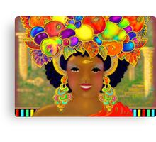'Even The Common People Wore Gold and the Jewels Were As Big as Fruit' Canvas Print