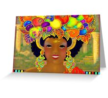 'Even The Common People Wore Gold and the Jewels Were As Big as Fruit' Greeting Card
