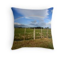 A Sign on the Featherston Straight Throw Pillow