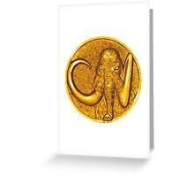 Mighty Morphin Power Rangers Black Ranger Mastadon Coin Greeting Card