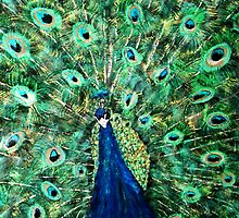 Strutting Peacock by Mikki Alhart