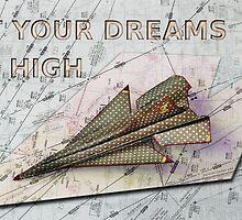Paper Plane Real Dreams by ArtByRuta