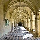 Fontevraud Abbey Colonnade by RebeccaWeston