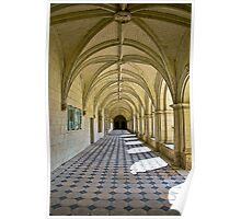 Fontevraud Abbey Colonnade Poster