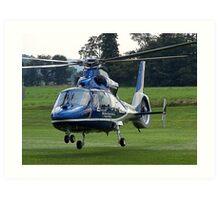 LifeLion medical helicopter landing Art Print