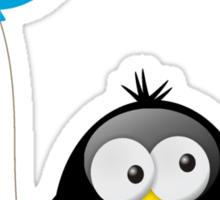 Penguin with Blue Balloon Sticker
