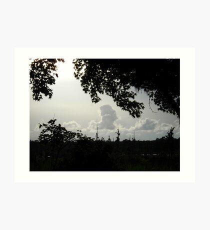 Sunset in Monochrome Art Print