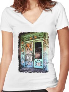 Pinos Altos Ice Cream Parlor Women's Fitted V-Neck T-Shirt