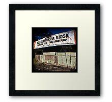 Kiosk Framed Print