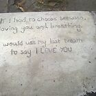 sidewalk poetry, concrete love by natapee