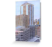 Skyscrapers Greeting Card