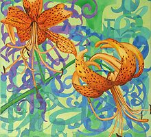 Tiger Lilies by sadeyedartist