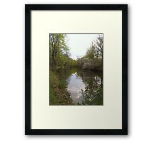 Reflection of a beautiful day Framed Print