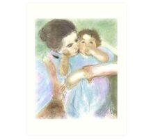 Mother and Child / after mary cassatt  Art Print