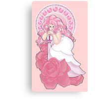 Rose Quartz Nouveau Canvas Print