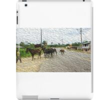 Man with horses iPad Case/Skin
