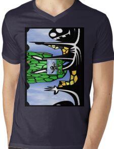 Cape Man Mens V-Neck T-Shirt