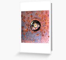 the Peek A Boo Bumble Bee Greeting Card
