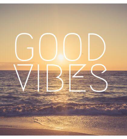 Good Vibes Sunset Sticker