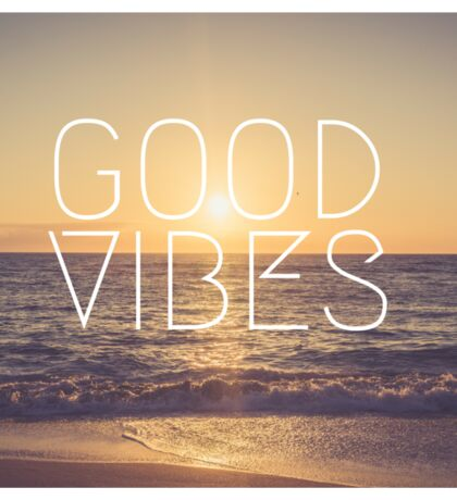 Good Vibes Sunset Sticker