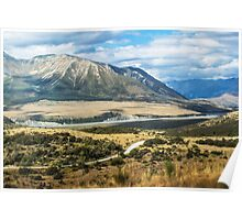 New Zealand's southern alps Poster