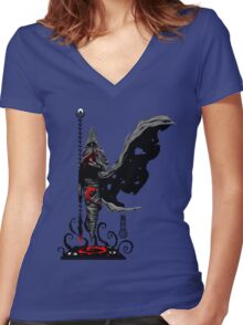 The Game of Kings, Wave Three: The Black King's Bishop Women's Fitted V-Neck T-Shirt