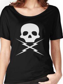 Stuntman Mike's Lightning Skull Women's Relaxed Fit T-Shirt