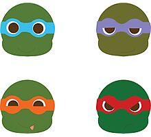 ninja turtles ball Photographic Print