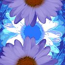 Vertical Daisy Collage I by Ruth Palmer