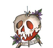 Just One Bite - Poison Apple Tattoo Flash by killinmesoftly