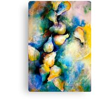 Abstract...Pears and Lace... Canvas Print