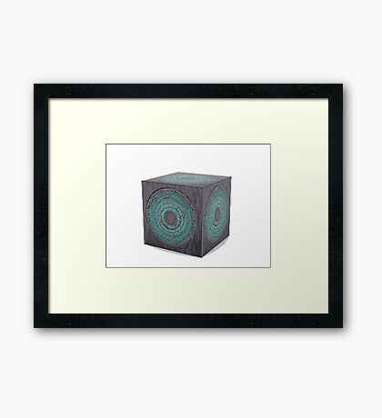 3d model of pandorica Framed Print