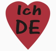I Love Germany - Country Code DE T-Shirt & Sticker by deanworld