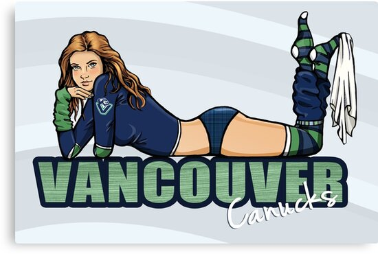 Vancouver Canucks Chickybabe shirt by Sarah  Mac