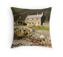 Port Quin Cottage Throw Pillow