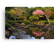 Japanese Garden in Blossom  Canvas Print