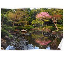 Japanese Garden in Blossom  Poster
