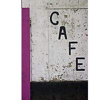 Sad Cafe Photographic Print