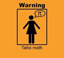 Warning: Talks math (skirt) Womens Fitted T-Shirt