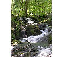 Waterfalls above Millerground, Windermere, Cumbria, English Lake District Photographic Print