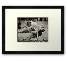 The Anchor Man, Tug of War, New Ross, County Wexford, Ireland Framed Print