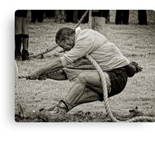 The Anchor Man, Tug of War, New Ross, County Wexford, Ireland Canvas Print