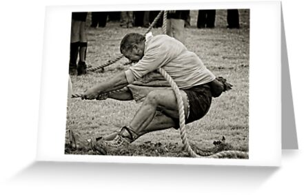 The Anchor Man, Tug of War, New Ross, County Wexford, Ireland by Andrew Jones