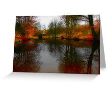 Tiergarten Pond Greeting Card