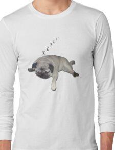 Sleeping Pug Long Sleeve T-Shirt